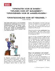 TOPWINSTEN VOOR DE BANKEN ! TOPLONEN VOOR HET ... - BBTK