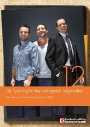 Geschäfts- und Nachhaltigkeitsbericht 2012 - BLKB