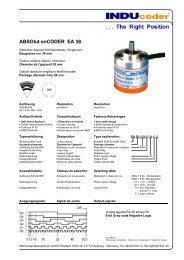ABSOlut enCODER EA 38 - INDUcoder Messtechnik GmbH
