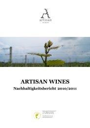 Nachhaltigkeitsbericht Artisan Wines