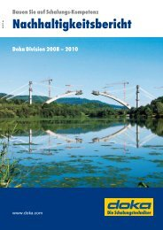 Nachhaltigkeitsbericht - Doka