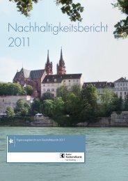Nachhaltigkeitsbericht 2011 - Basler Kantonalbank