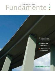 Nachhaltigkeitsbericht 2009 - HeidelbergCement