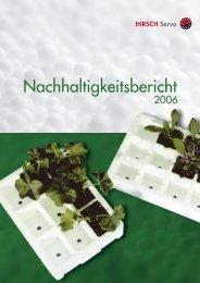 Nachhaltigkeitsbericht - Hirsch Gruppe