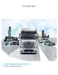 Daimler Nachhaltigkeitsbericht 2012