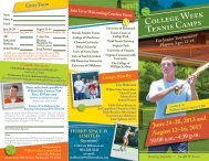 2013 College Week Camp Brochure 2013 - Richmond Tennis ...