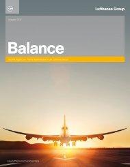 Nachhaltigkeitsbericht Balance 2012 - Lufthansa Group