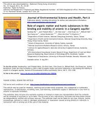 Role of organic matter and humic substances in the binding and ...