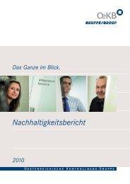 OeKB Gruppe Nachhaltigkeitsbericht 2010 - OeKB Business ...