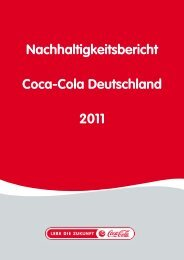 Nachhaltigkeitsbericht Coca-Cola Deutschland 2011 ...