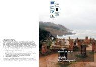 Algérie: Rapport diagnostic - Project destinations