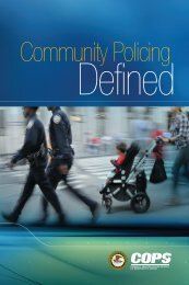 Community Policing Defined - COPS Resource Center