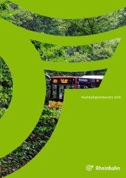 Nachhaltigkeitsbericht 2010 - Rheinbahn