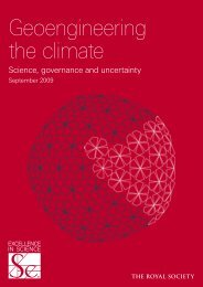 Geoengineering the climate: science ... - The Royal Society