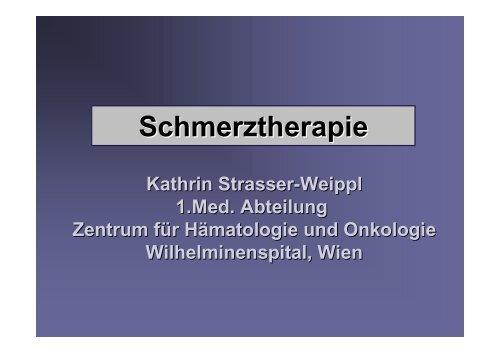 Schmerztherapie - Zentrum für Onkologie und Hämatologie 1 ...