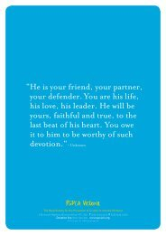 He is your friend, your partner, your defender. You ... - RSPCA Victoria