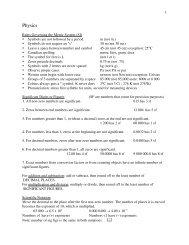 sc 10 course notes physics - Greater Saskatoon Catholic Schools
