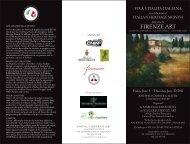 Firenze Art Brochure. Front Flat size 11 7 - Villa Charities