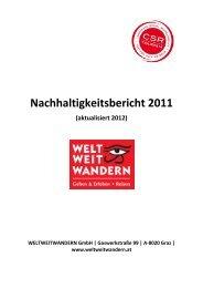 Nachhaltigkeitsbericht 2011 - Weltweitwandern