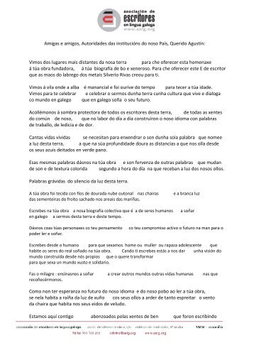 Cesáreo Sánchez Iglesias, Presidente da AELG - Asociación de ...