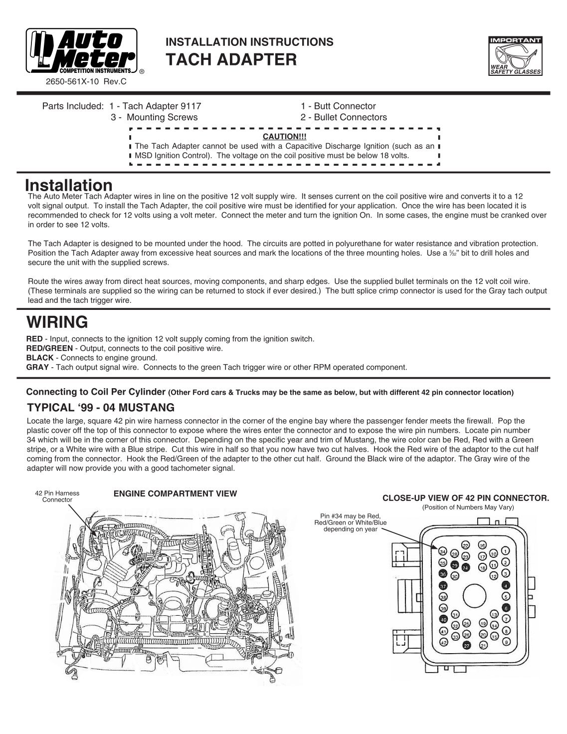 Sun Tach Wiring Instructions Solutions Tachometer Diagram 2