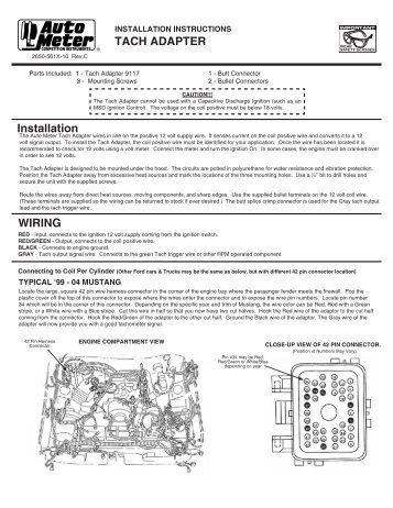 tach adapter installation instructions auto meter kenworth tachometer wiring diagram wiring diagram simonand Tachometer Wiring Schematic at readyjetset.co