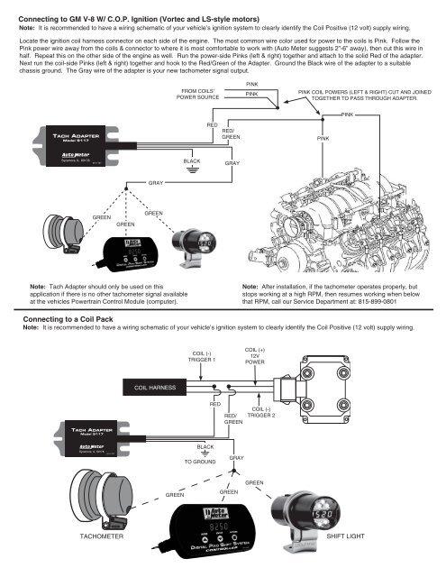 Memory Tach Wiring Diagram | Wiring Diagram on autometer tach installation, msd 6al wiring schematic, msd ignition wiring schematic,