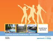 Kendall House Apartments Printable Brochure - Apartments For Rent