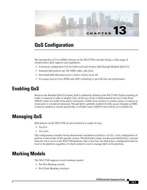 13 QoS Configuration - Cisco