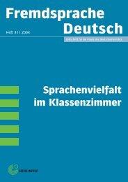 """""""Fremdsprache Deutsch"""" Heft 31/2004 - DaF-Multikulti - home"""