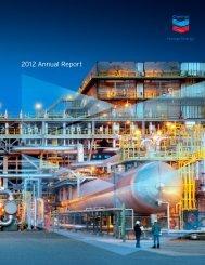 Annual Report 2012 Chevron