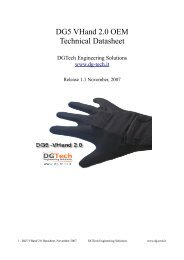 DG5 VHand 2.0 OEM Technical Datasheet - Dg-tech.it
