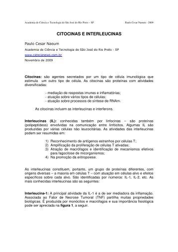CITOCINAS E INTERLEUCINAS - Academia de Ciência e Tecnologia