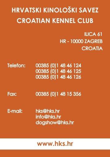 HRVATSKI KINOLOŠKI SAVEZ CROATIAN KENNEL CLUB www ...
