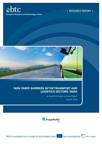 NoN-Tariff Barriers iN The TraNsporT aNd LogisTics secTors - EBTC