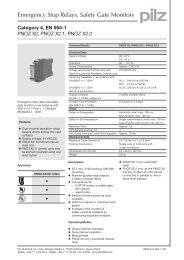 Safety relay Manual or automatic reset UE 43-2 MF