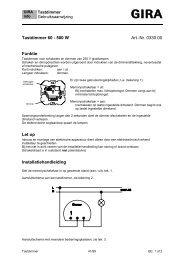 Tastdimmer-basiselement - Gira