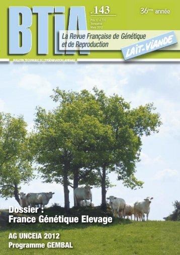 """""""BTIA"""" - Dossier spécial FGE et ses membres - France génétique ..."""