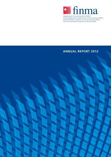 ANNUAL REPORT 2012 - Finma