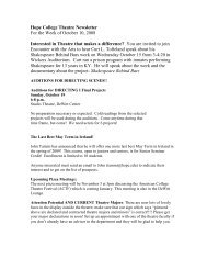 Hope College Theatre Newsletter For the Week of October 10, 2008 ...