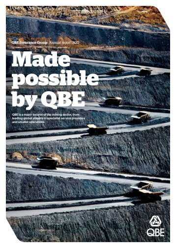 QBE Insurance Group Annual report 2012 - QBE.COM