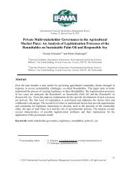 Private Multi-stakeholder Governance in the Agricultural Market Place