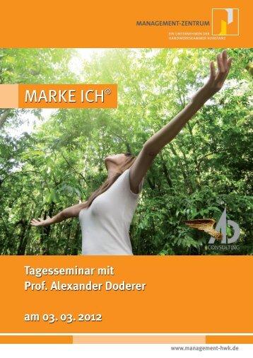 Tagesseminar mit Prof.  Alexander Doderer am 03. 03 ... - Gruppedrei