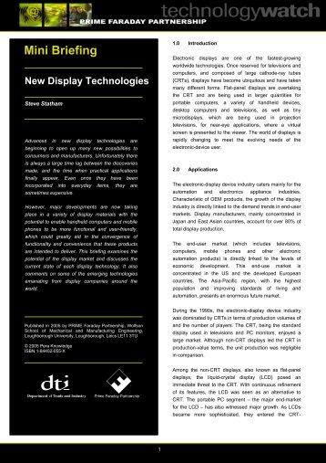 New Display Technologies - Loughborough University