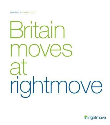 Rightmove plc annual report 2012 - Rightmove Investor Centre