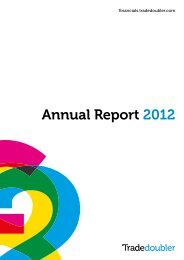 Read our Annual Report 2012 - Tradedoubler
