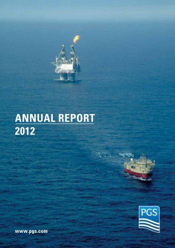 AnnuAl RepoRt 2012 - PGS