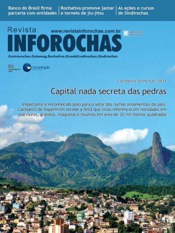 Capital nada secreta das pedras - Revista Inforochas