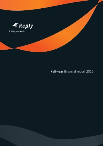 Half-year financial report 2012 - Reply