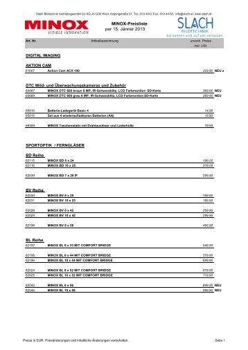 Preisliste (42 KB) - Slach